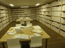 Untitled white library at mona.JPG