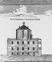 The observatory of Anders Celsius, from a contemporary engraving.