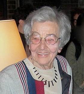 Ursula Franklin at book launch crop.jpg