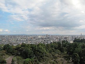 Utsunomiya City South East Area viewing from Utsunomiya Tower.jpg