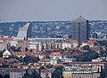 Výhled z Archivu hl. m. Prahy, Vinohrady, Crystal a Strojimport.jpg