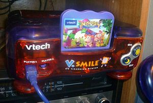 V.Smile - The Special Edition of the V.Smile TV Learning System included two controllers, a game cartridge and a console with reversed body colors.