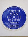 VINCENT VAN GOGH 1853-1890 Painter lived here 1873-1874.jpg