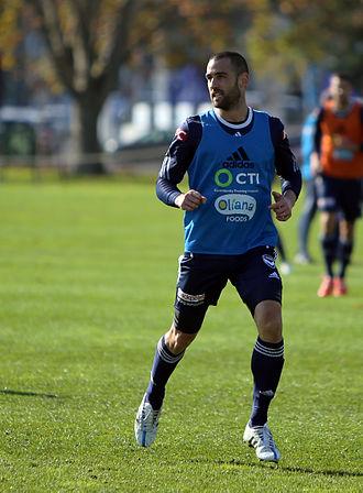 Carl Valeri - Valeri training for Melbourne Victory.