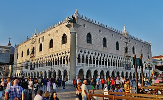The Doge's Palace, the former residence of the Doge of Venice Venezia Palazzo Ducale 01.jpg
