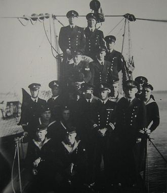 Finnish submarine Vesikko - Crew of Vesikko (July 1941)