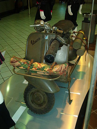 Vespa - Vespa 150 TAP, modified by the French military, that incorporated an anti tank weapon