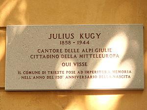 Julius Kugy - Memorial plaque in Trieste
