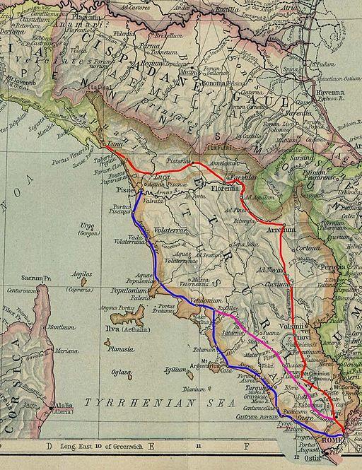 Viae Cassia Aurelia Clodia