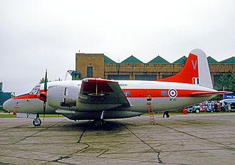 RAF Oakington - Vickers Varsity navigation trainer of No.5 FTS in 1971