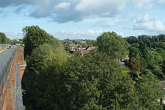 Imberhorne Viaduct - View from the viaduct, looking north towards East Grinstead