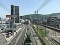 View from footbridge in front of Yano Station (east).jpg