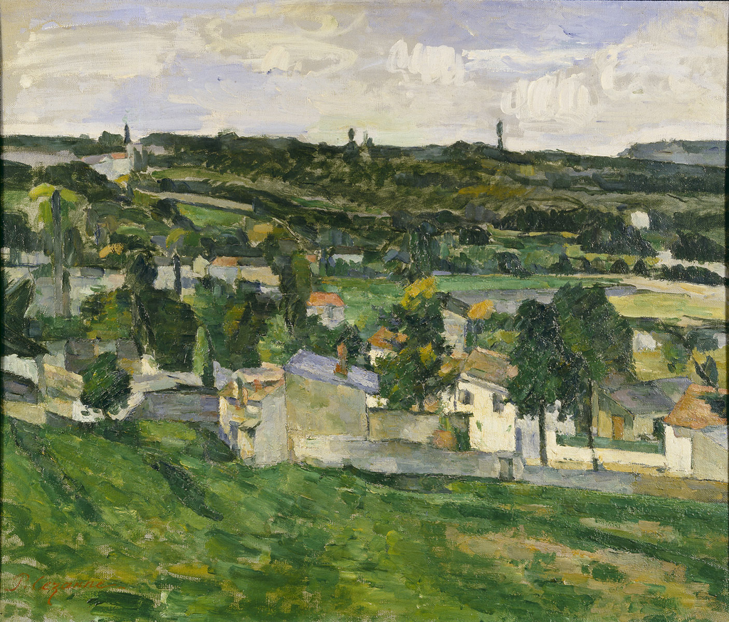 View of Auvers-sur-Oise Paul Cezanne