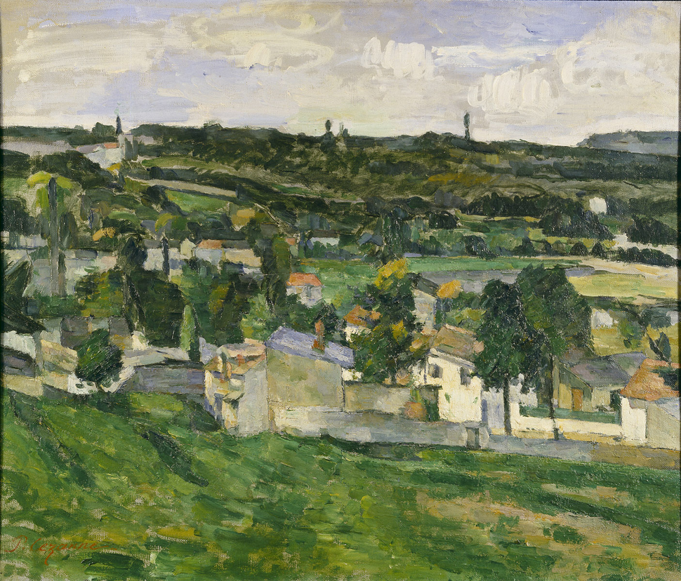 View of Auvers-sur-Oise Paul Cezanne