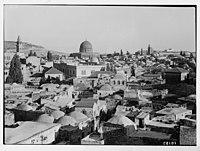 View of Jerusalem city wall above the Damascus Gate. LOC matpc.04173.jpg