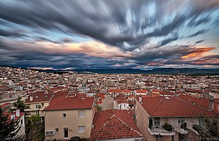 Kozani City in northern Greece
