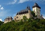 View of the castle Karlstejn from the southeast. Czech Republic.jpg