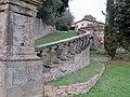 Villa di lappeggi, rampa scalinata dx 01.JPG