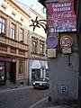 Vimperk, Pivovarská, od Kostelní na západ, zúžení.jpg