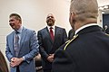 "Vince McMahon and Paul ""Triple H"" Levesque speak to Army Command Sgt. Maj. John W. Troxell, 2016.jpg"