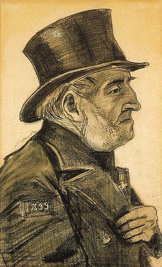 Adrianus Jacobus Zuyderland - Image: Vincent van Gogh Orphan Man with Top Hat (F954)