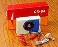 Vintage Union Germanium Crystal Radio, Model GR-84 With Box, AM Band, Made In Japan, Circa 1958 (48638068168).jpg