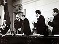 Visita del Presidente Charles de Gaulle, Hugo Zepeda Barrios, Raúl Morales, Eduardo Cañas, oc.JPG