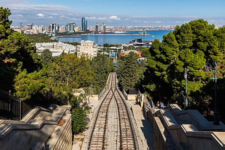 View of Baku, capital of Azerbaijan.