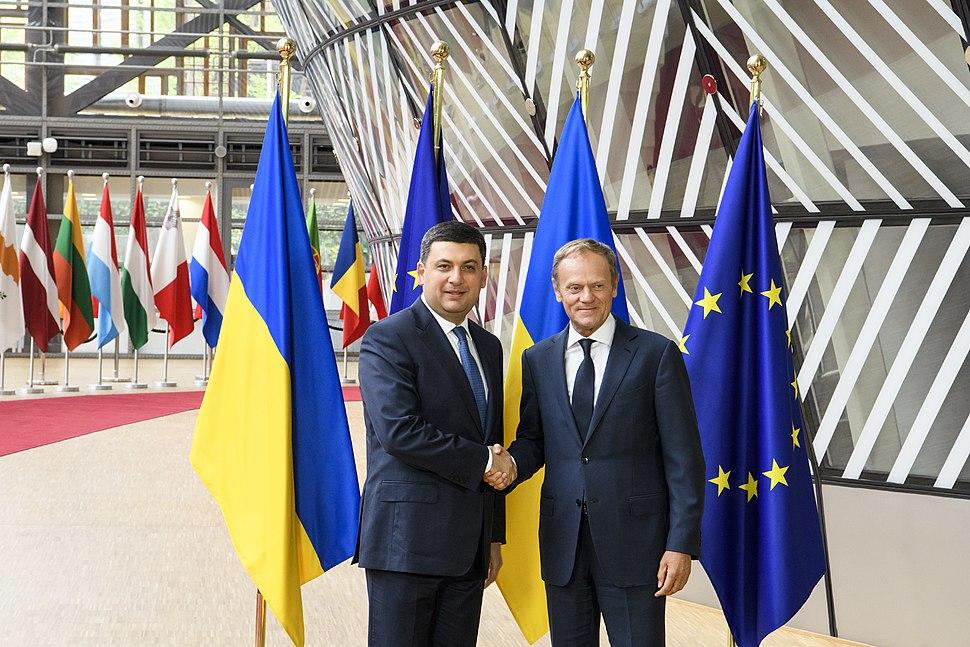 Volodymyr Groysman with Donald Tusk - 2018 (MUS7214)