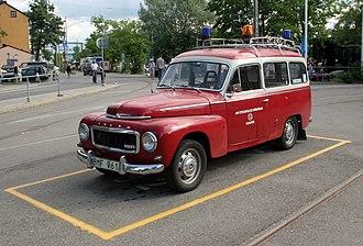 Djurgårdslinjen - The former emergency service vehicle of Djurgårdslinjen, a Volvo Duett from 1968