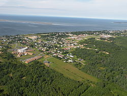Aerial view of Caraquet.