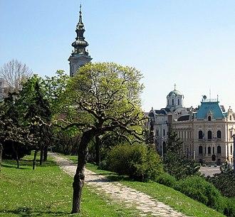 Kalemegdan Park - Image: Vue depuis Forteresse Kalemegdan