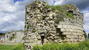 Bazoches-sur-Vesles - A view of the Castle ruins