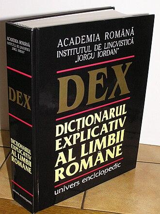 Dicționarul explicativ al limbii române - DEX, 1998