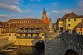 Würzburg. Alte Mainbrücke mit Restaurant 'Alte Mühle' (10610498656).jpg