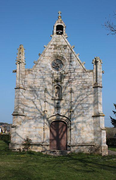Chapelle Sainte-Anne (XVI° siècle), façade sud, Fr-56-Saint-Dolay.