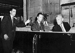 Arlen Specter - Specter reproducing the assumed alignment of the single bullet theory. The subsequent revelation that Texas Governor John Connally's seat in the Presidential limousine had been elevated with respect to John Kennedy's corroborated this theory.