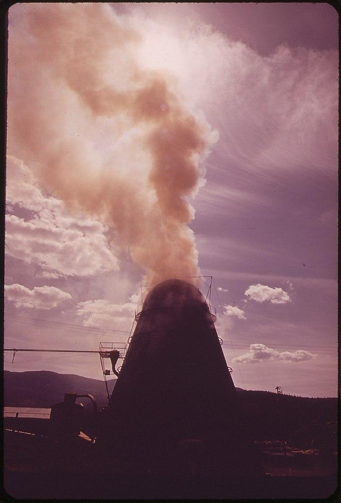 College Of Idaho >> File:WIGWAM BURNER AT THE LOUISIANA PACIFIC LUMBER PLANT AT POST FALLS, IDAHO - NARA - 548157 ...
