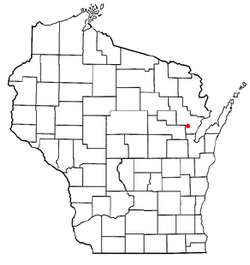 Location of Morgan, Wisconsin