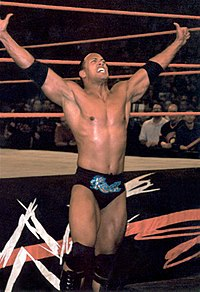 WWF RAW 2001-10-15 The Rock at ringside.jpg