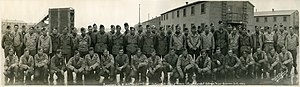 31st Infantry Division (United States) - World War II combat survivors of Company B, 124th Infantry Regiment, U.S. 31st Infantry Division. The regiment arrived at the San Francisco Port of Embarkation on 14 December 1945 and was inactivated two days later at Camp Stoneman, California, where this photo was taken.