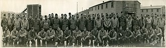 Camp Stoneman - World War II combat survivors of Company B, 124th Infantry Regiment, 31st Infantry Division, at Camp Stoneman in December 1945.