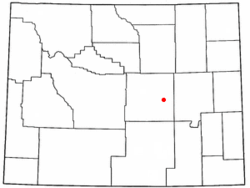 Location of Mills, Wyoming