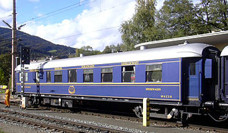Compagnie Internationale des Wagons-Lits - Historic Wagons-Lits restaurant car in Austria in 2003.