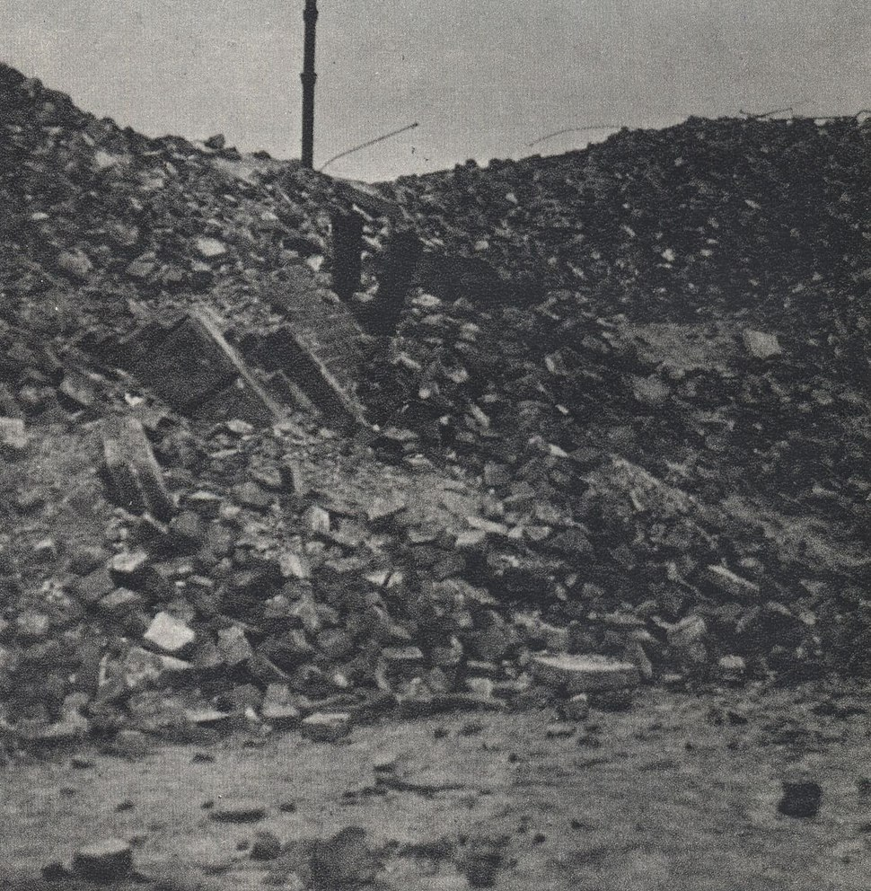 Warsaw ghetto ruins – place of mass executions at 27 Dzielna Street