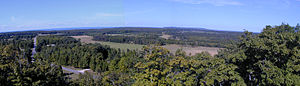Washington Island (Wisconsin) - View to North through East from lookout tower near center of island.