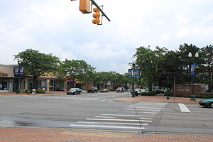 Wayne, Michigan - Downtown Wayne, westbound, Michigan Avenue