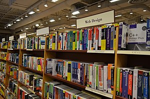 Web design - Web design books in a store
