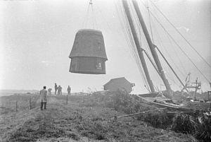 Windmills at Kinderdijk - The mills undergoing renovation in November 1972