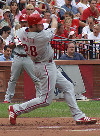 2009 Philadelphia Phillies season - Jayson Werth tied a franchise record with four stolen bases, including home plate, on May 12.